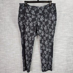 Old Navy Active Floral Print Go Dry Leggings XL